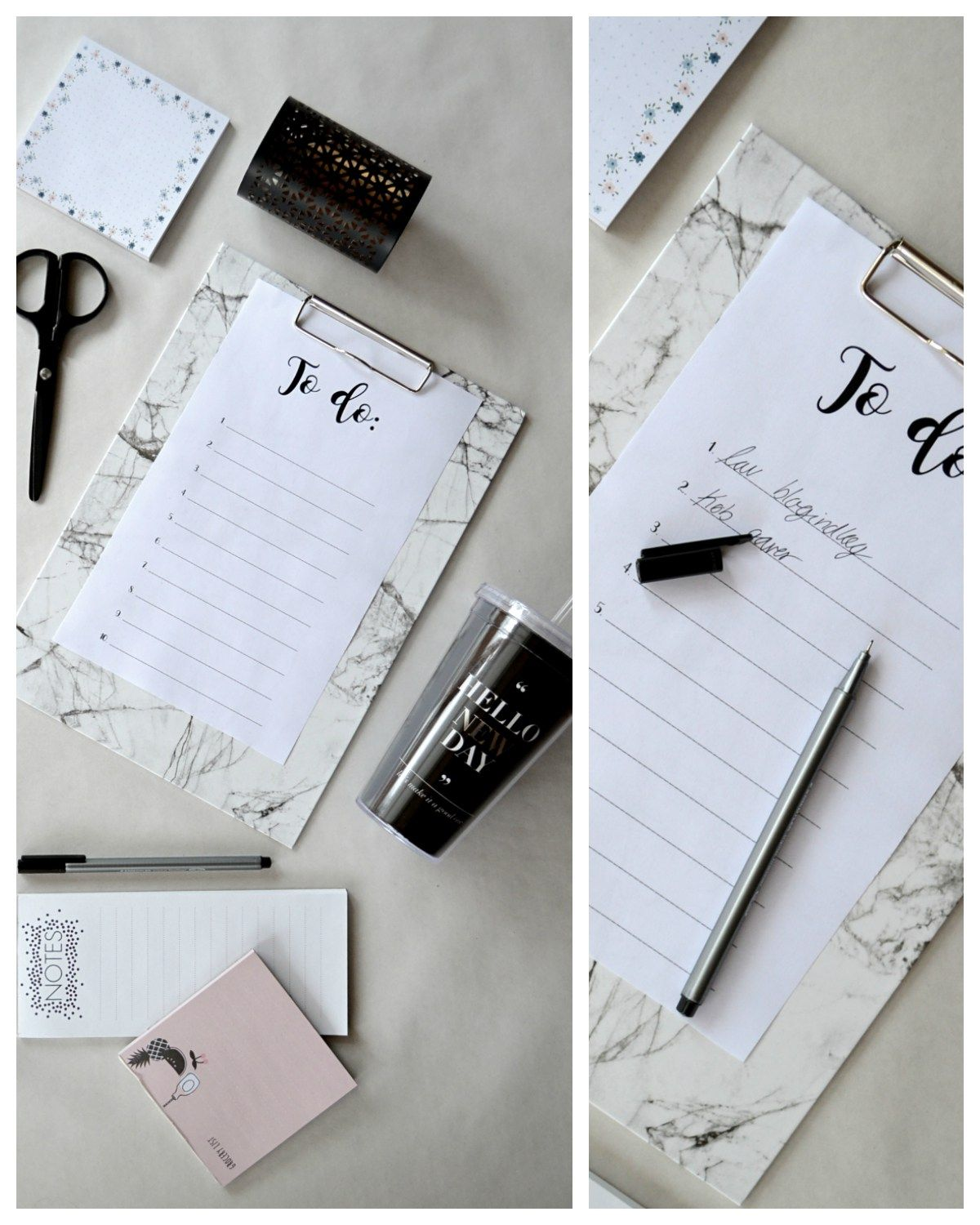 TO DO LISTS: free download and printable to do list for all of you busy bees out there!  http://www.karolinehaugaard.dk/saadan-holder-jeg-styr-paa-tingene-printselv/  #study #todo