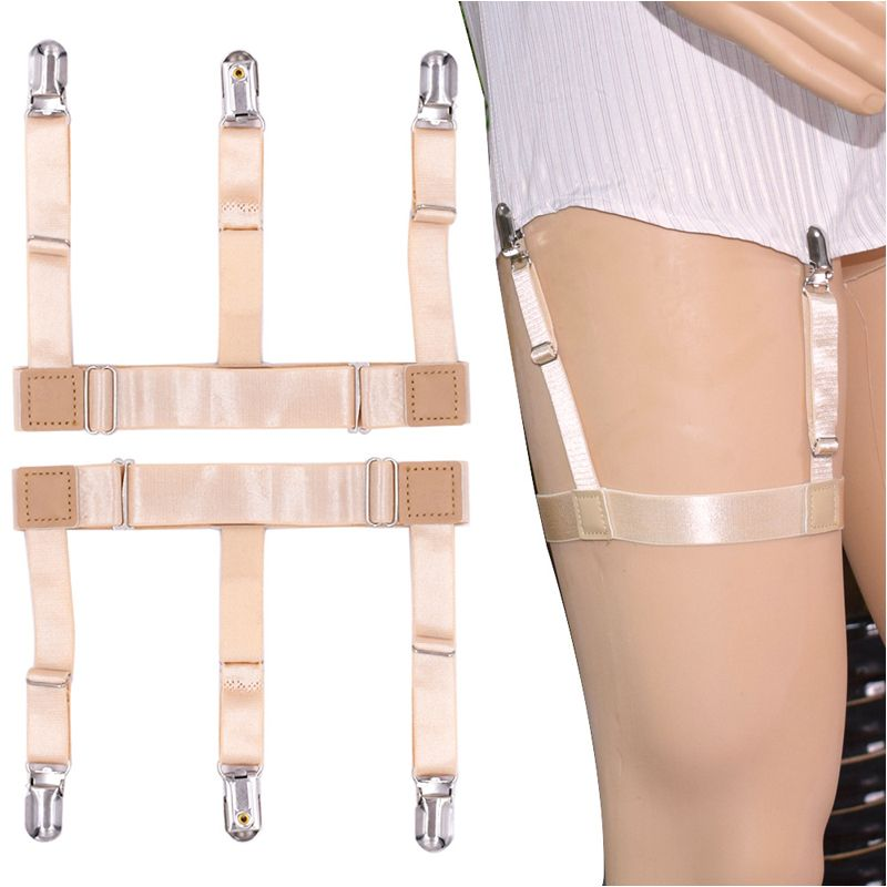 a4c3253561d Find More Garters Information about New Skin Nylon Women s T shirt Garter  2.5cm width Elastic Men s Stockings Garter Adjustable Shirt Sling Belt 42cm  length ...