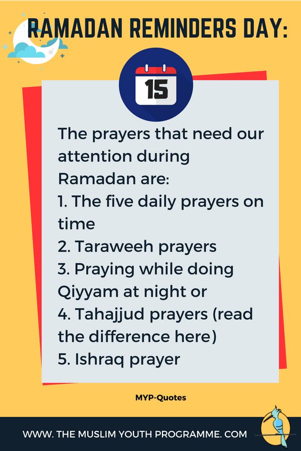 Ramadanreminders Ramadan Reminders Day 15 Ramadan Is The Time To