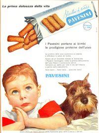 Pubblicità vintage biscotti Pavesini