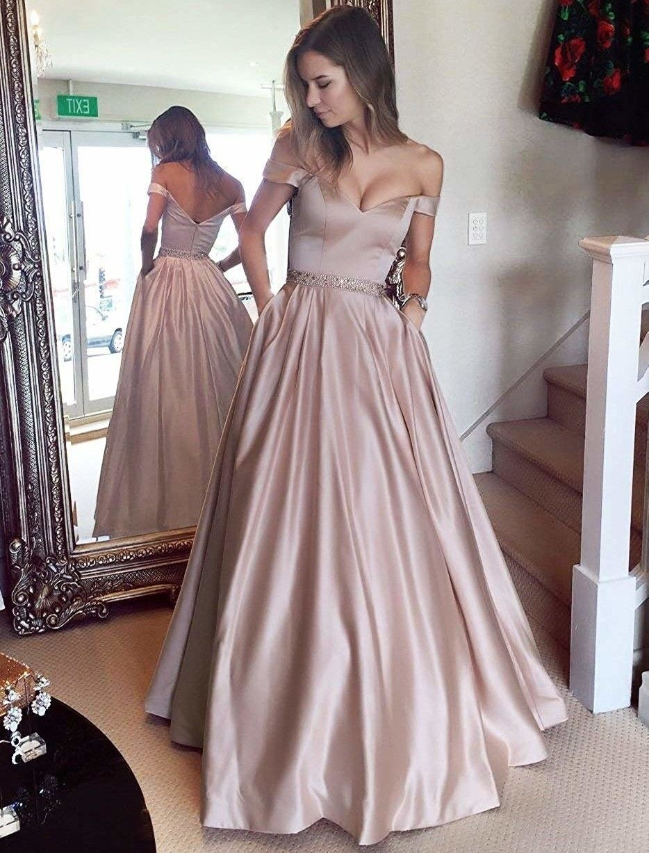 Just 34 Stunning Prom Gowns You Can Buy Online Prom Dresses With Pockets Satin Prom Dress Prom Dresses [ 1227 x 934 Pixel ]