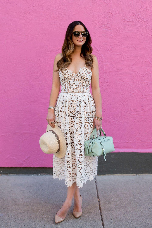 877b34dc8bf728 Self Portrait White Lace Dress | #STYLE CHARADE | Dresses, Fashion ...