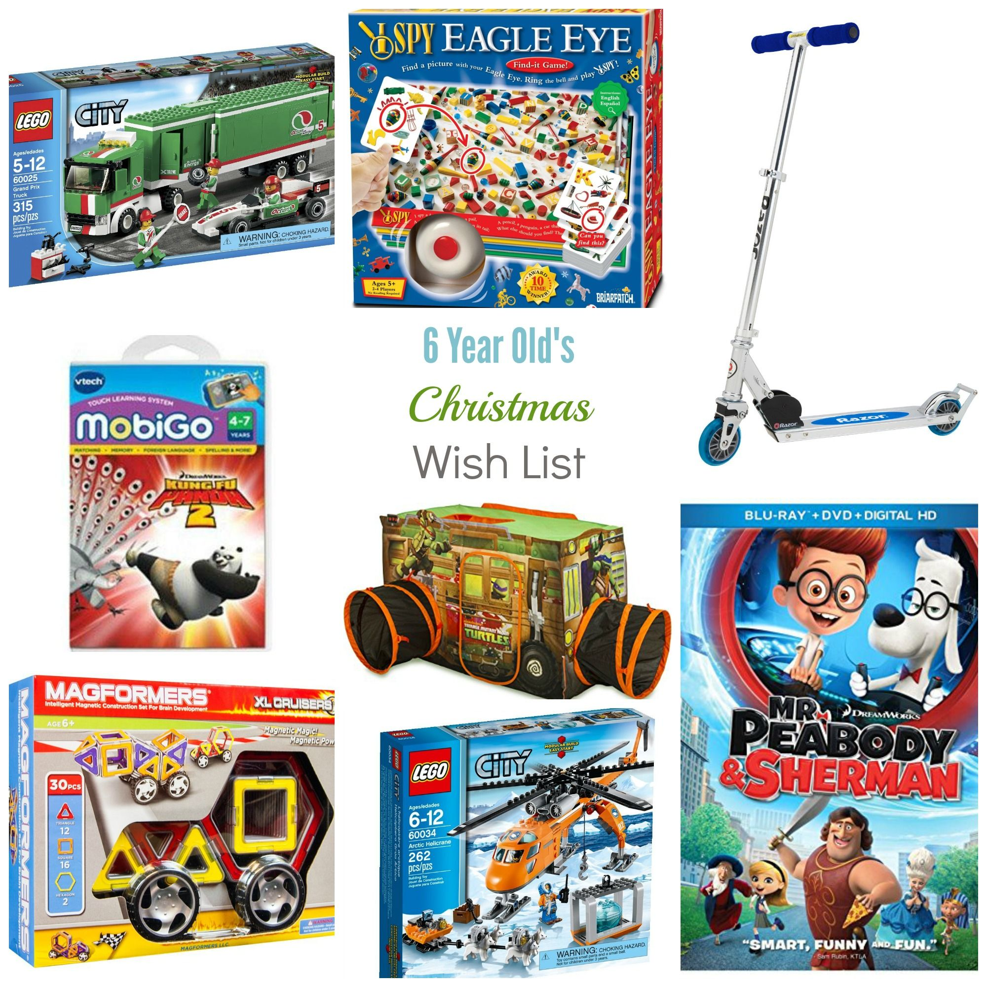 Christmas Wish List - 6 Year Old Boy | Gift Ideas For Kids ...