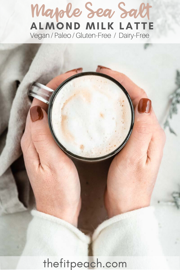 Cozy Maple Sea Salt Almond Milk Latte in 2020 Almond