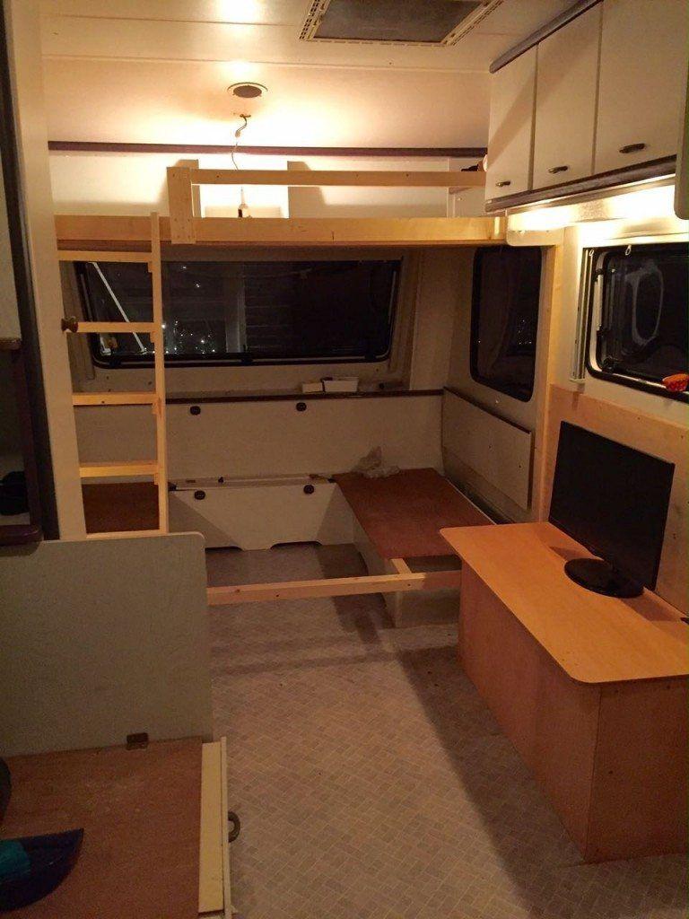 Caravan Met Stapelbed Te Koop.Stapelbed Maken In Caravan Caravanity6 Caravan Bed Caravan