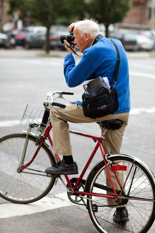 Bill Cunningham - NYC street fashion photographer.
