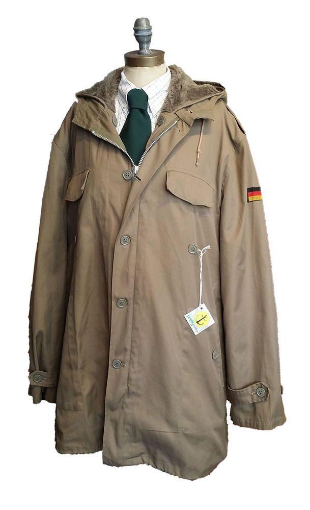 Originale Vintage Uomo Man Militare Usato Tedesco Parka Military nq18w1