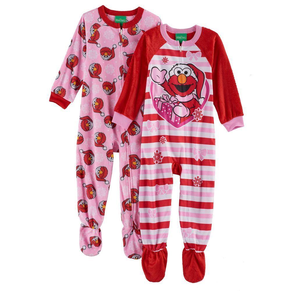 Sesame Street Girls Toddler Elmo and Friends Cotton Onesie