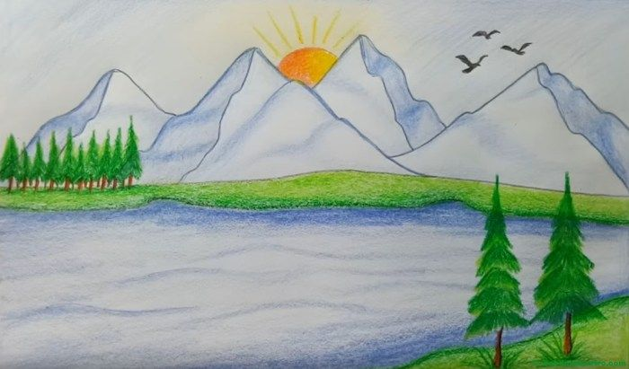 Como Pintar Un Paisaje Paisajes Dibujos Web Del Maestro Paisajes Dibujos Paisajes Bonitos Para Dibujar Paisajes Naturales Dibujo
