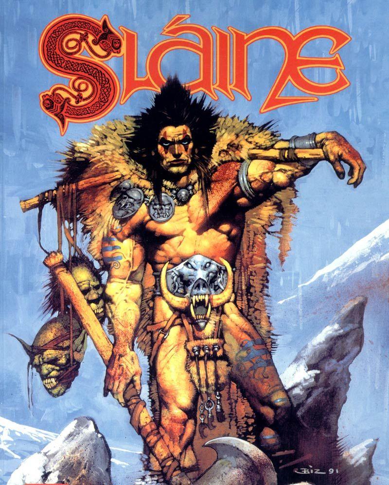 sláine, the horned god, 1989 - 1990 - pat mills (author), simon bisley (artist)