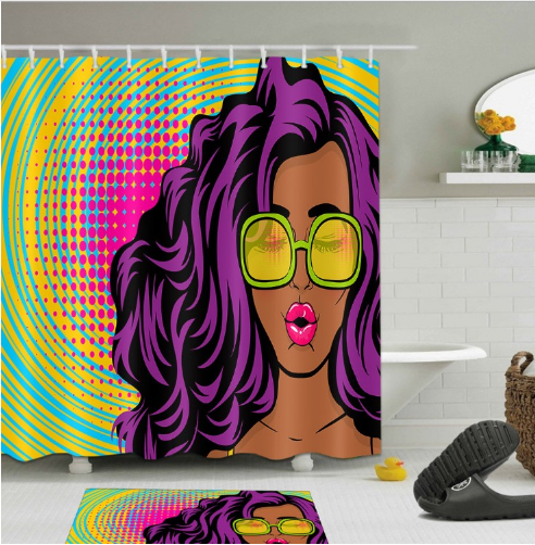 Afrocentric Shower Curtain - Home Decorations - Small (59 x 70 inches) / 3