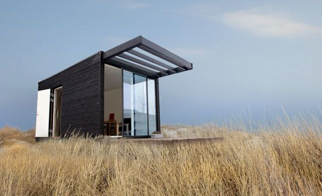 black cladding and glass
