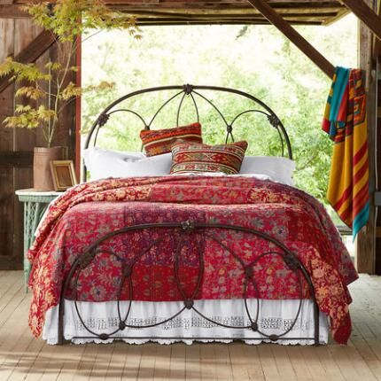 Empire Bed Bed Spreads Red Bedspread Wrought Iron Beds