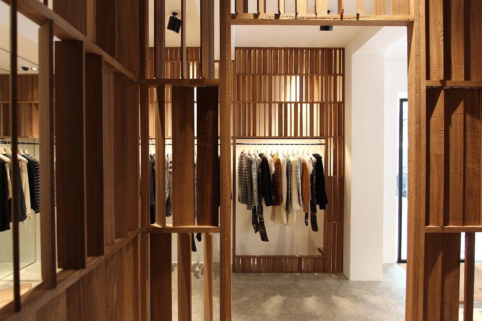 Claustra Ciment House Refection Into A Store For The Fashion Designer