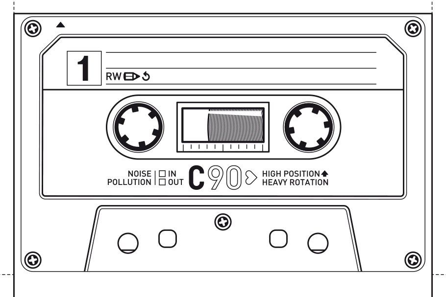 Cassette Tape Box Template from i.pinimg.com