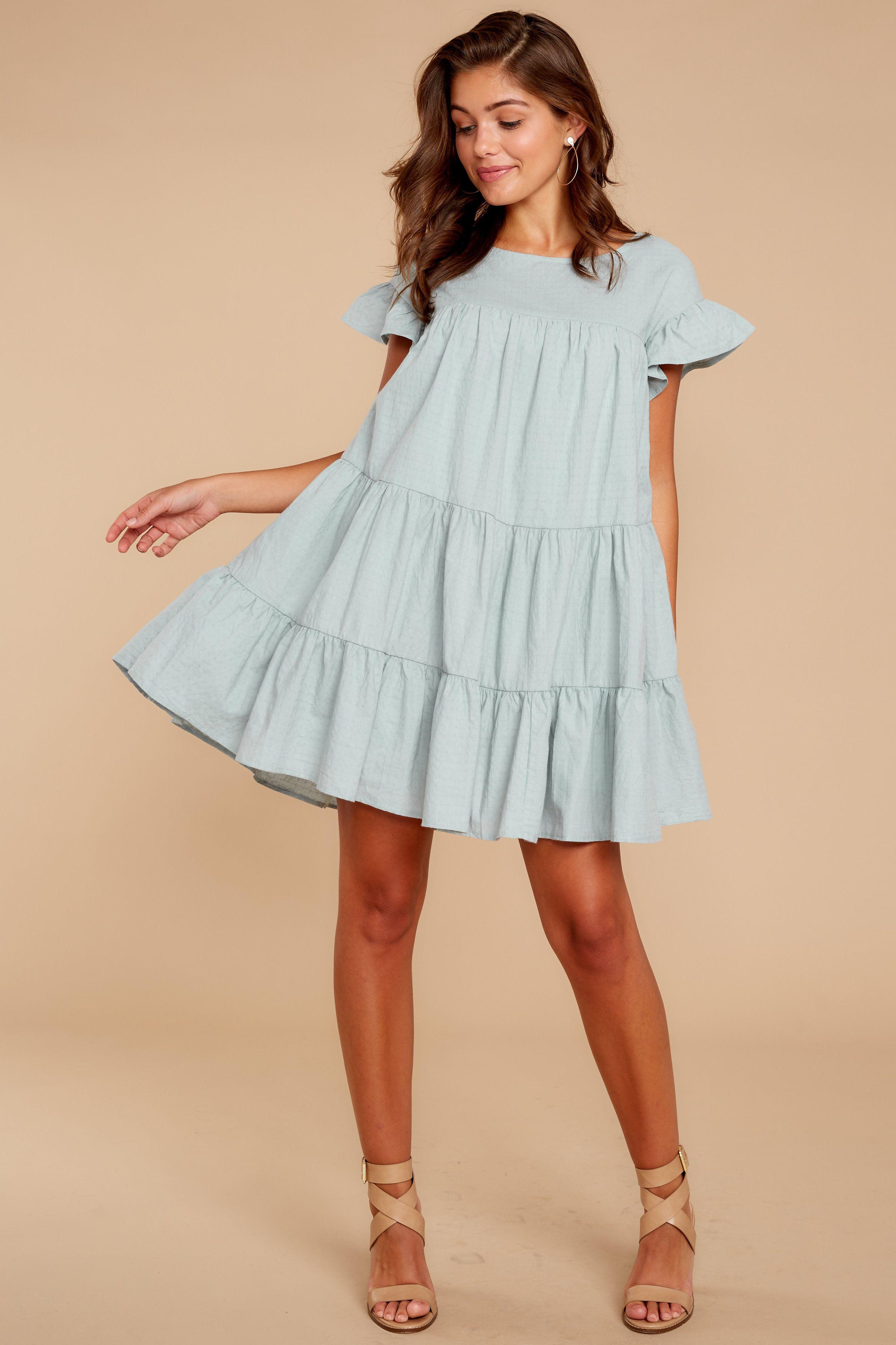 Chic Mint Dress - Baby Doll Dress - Dress - $6.6 – Red Dress