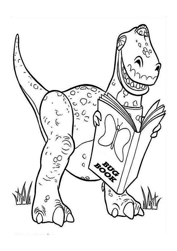 Rex Is Reading A Book In Toy Story Coloring Page Download Print Online Coloring Pages For Fre In 2020 Toy Story Coloring Pages Coloring Pages Online Coloring Pages