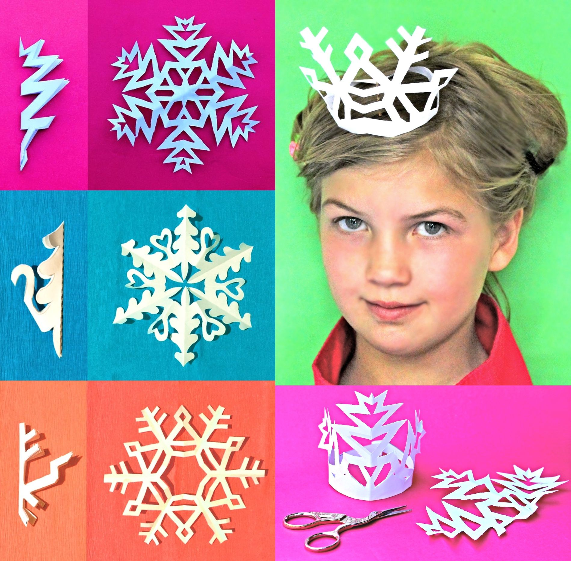 Snowflake Crowns Tutorial And Templates By Happythought