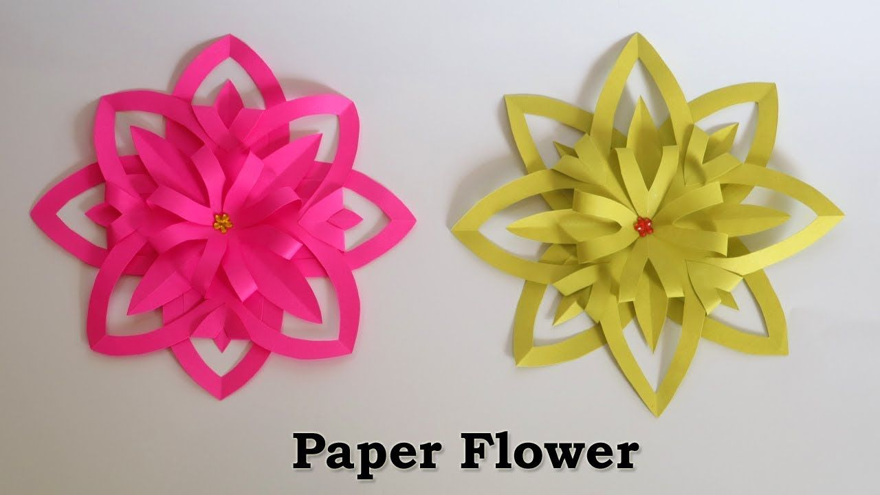 Paper Flowers Easy Paper Crafts Flower Making With Paper