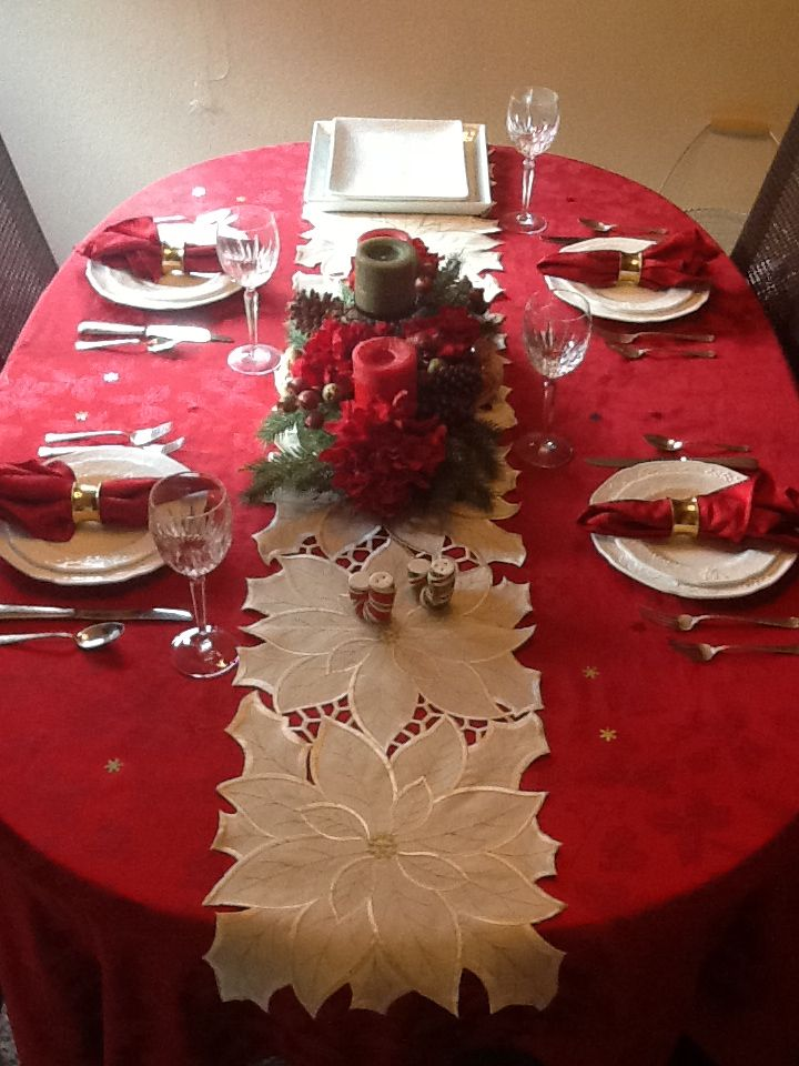 2012 Christmas table setting.