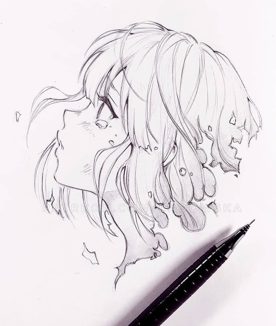 Pin By Emilie On Pencil Ink Marker In 2020 Anime Drawings Sketches Sketches Drawing Sketches