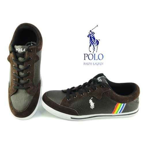 Polo Ralph Lauren Men\u0027s Monaco Suede Leather Shoes-Brown