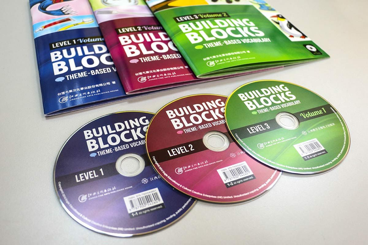 English learning book cover and CD design. Photoshop, Indesign and ...