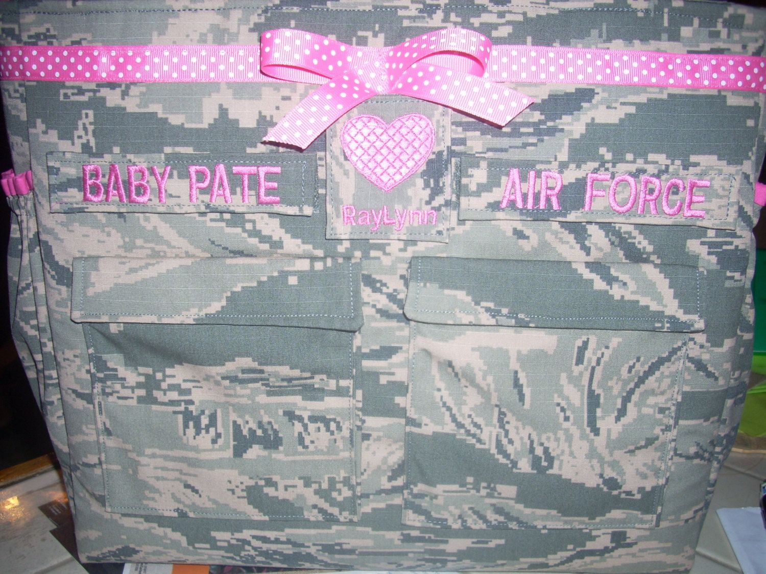 Air Force ABU diaper bag in your choice colors