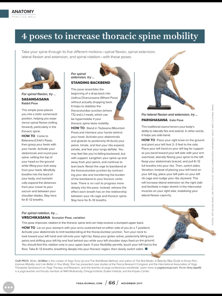 Thoracic Spine Mobility Yoga Poses Thoracic Spine Mobility