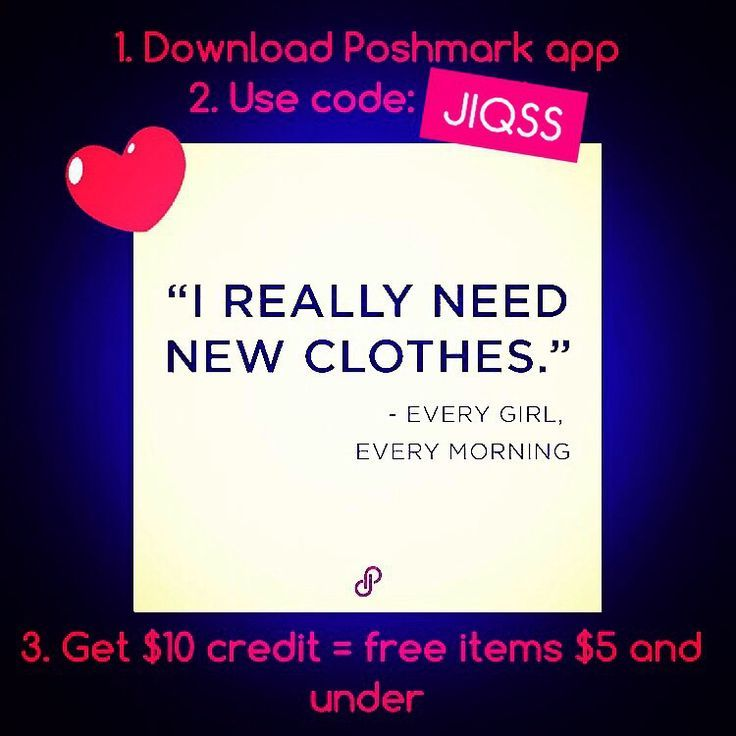 Step 1: Download Poshmark App  Step 2: Sign up and use code