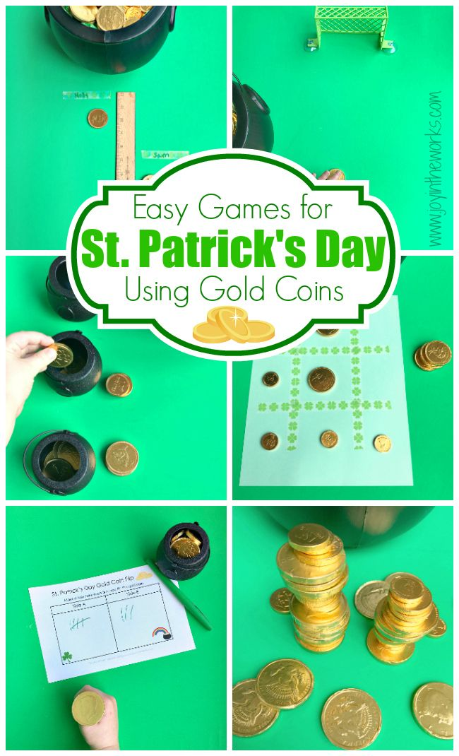 Looking For Some Easy Games St Patricks Day These Gold Coin Are Perfect Parties Classroom Centers And Just Fun At Home