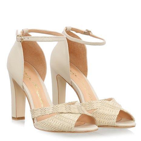 213ebea83f892 SANDÁLIA SALTO GROSSO EM PALHA E COURO GELO | shoes | Sapatos ...