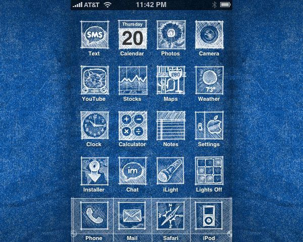 iPhone Theme Blueprint Project  Ye Olde Home Restorations - new enterprise blueprint apple