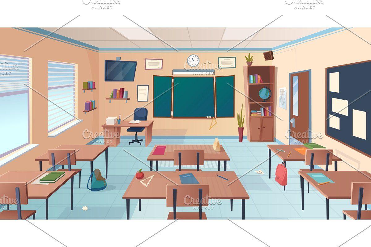 School Corridor Bright College In 2020 Classroom Interior College Room Classroom Design