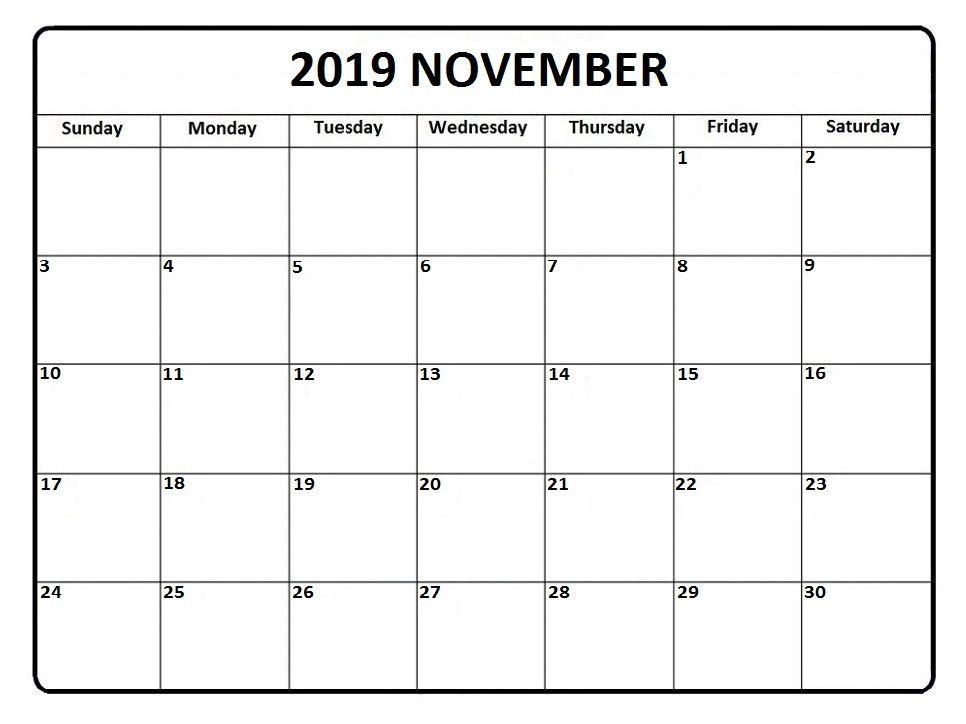 image regarding Nov Calendar Printable titled November 2019 Calendar #nov #november #november2019
