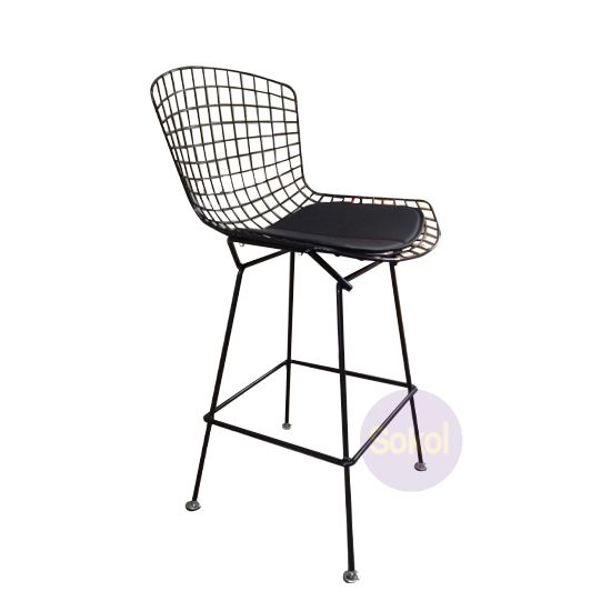 Marvelous Replica Bertoia Wire Counter Stool Black Frame Stools Beatyapartments Chair Design Images Beatyapartmentscom