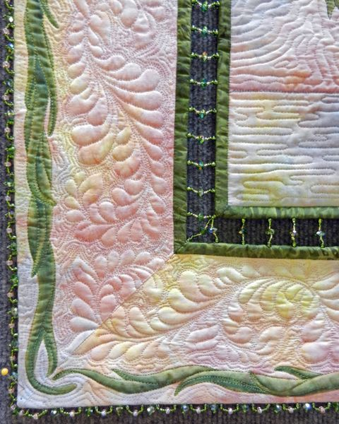 "Close-up, Jan Reed's ""Painted Ladies"". She hand beaded the central ... : pine tree quilt guild - Adamdwight.com"