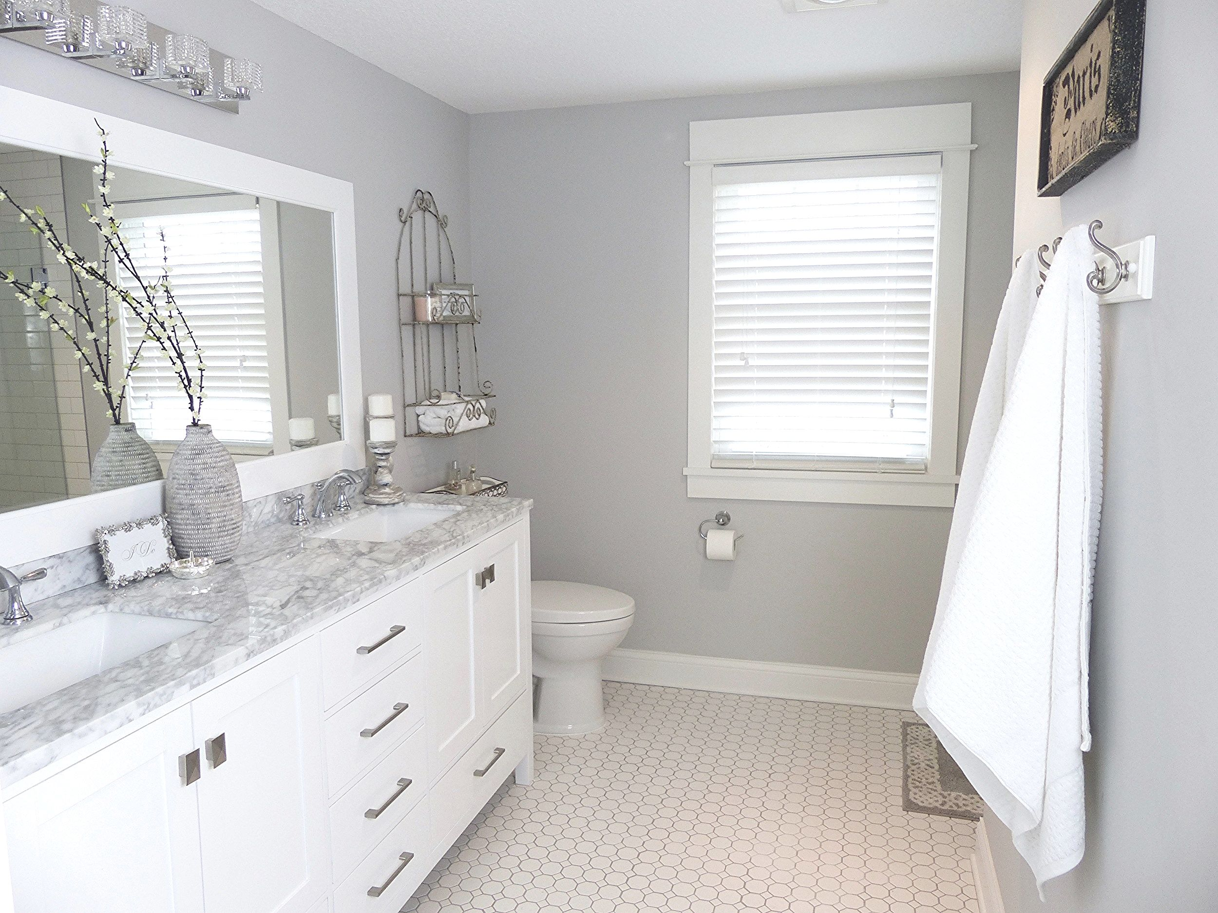white and grey bathroom | bathrooms remodel, bathroom remodel cost, basement bathroom remodeling