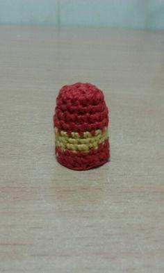 Dedal De Ganchillo Con La Bandera Española Crochet Embroidery Thimbles