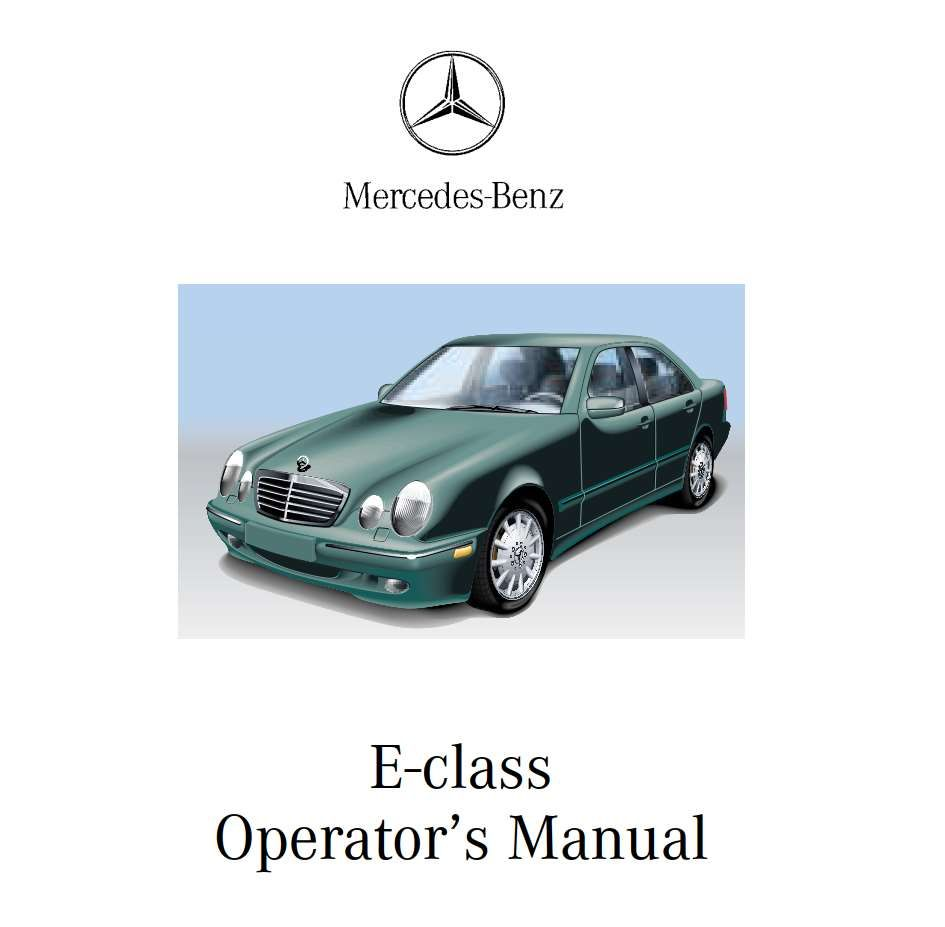 Mercedes Benz E Class 2001 Owner S Manual Pdf Online Download Benz E Class Benz E Mercedes Benz