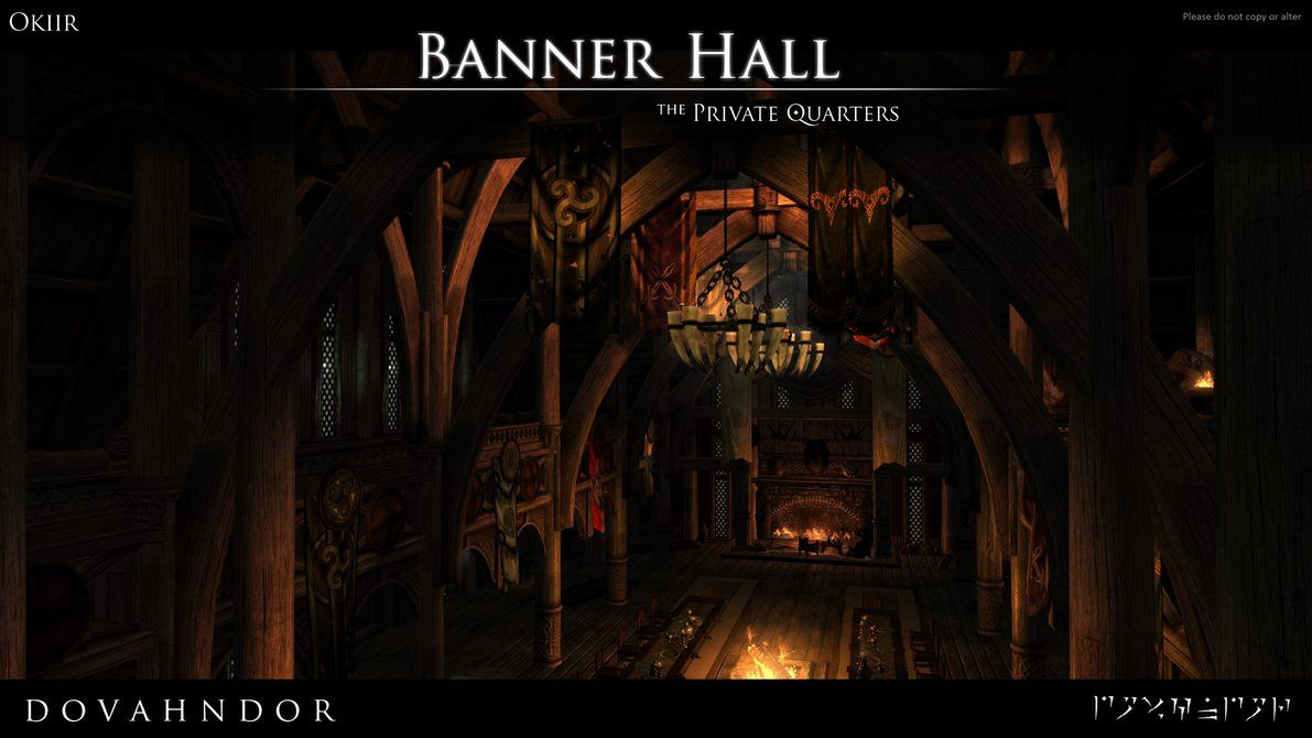 SKYRIM: Dovahndor - The Banner Hall by okiir.deviantart.com on @DeviantArt