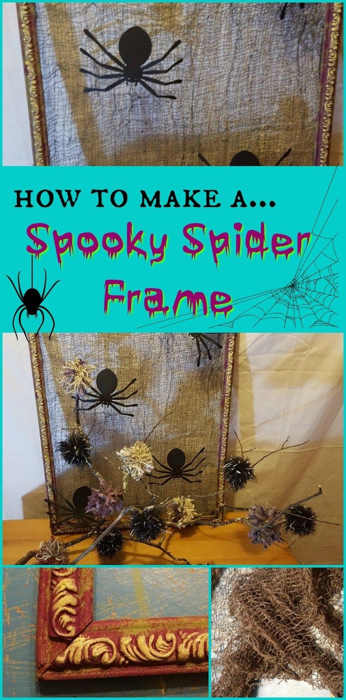 How to Make a Spooky Spider Frame ~ Teadoddles Teadoddles Blog