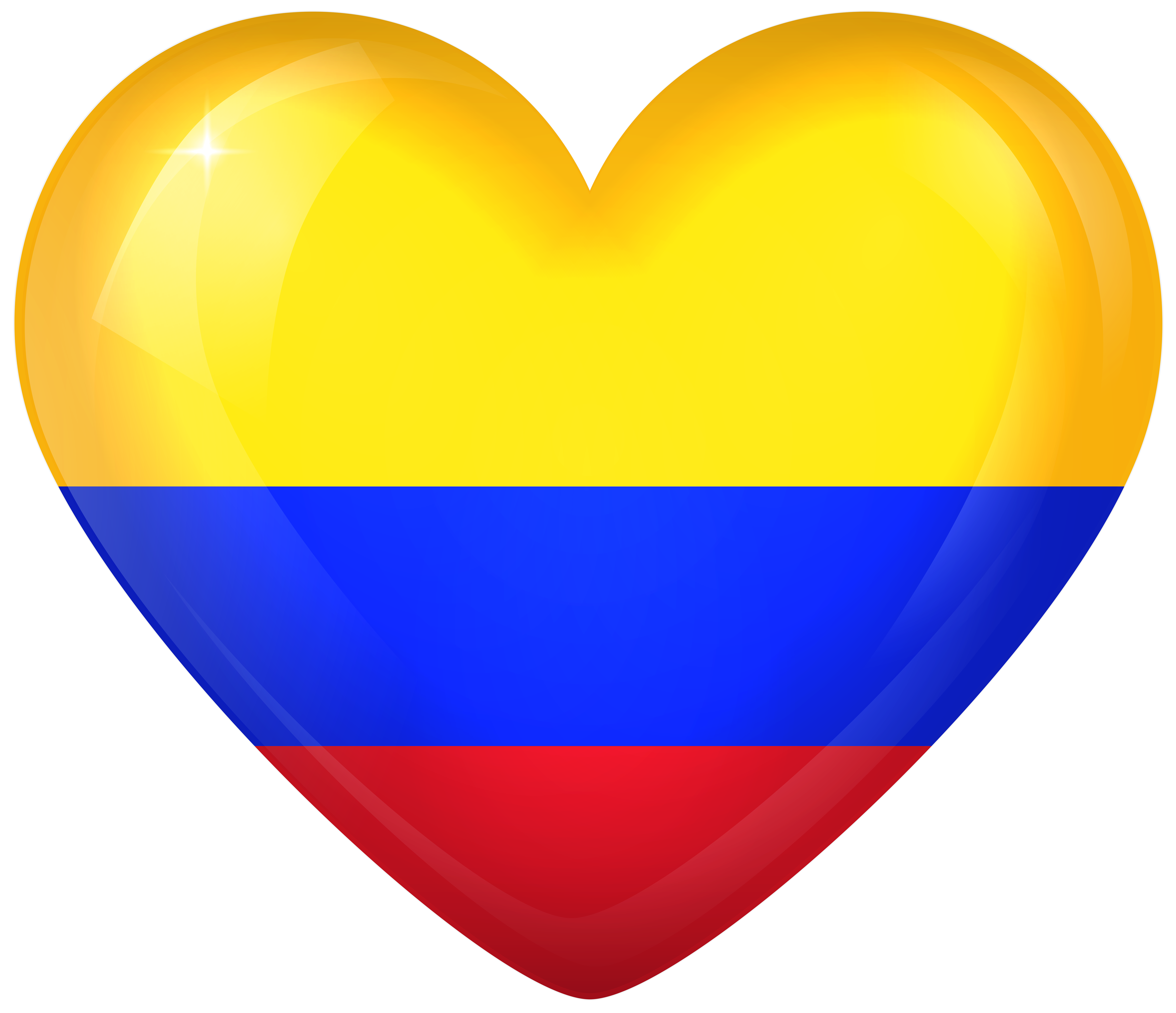 Colombia Large Heart Flag Gallery Yopriceville High