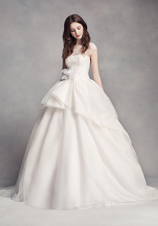 Simple White by Vera Wang White by Vera Wang Style VW Wedding Dress The Knot
