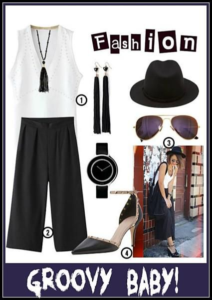 Groovy Baby! Simply love that black & white #outfit. #trendy #fashion