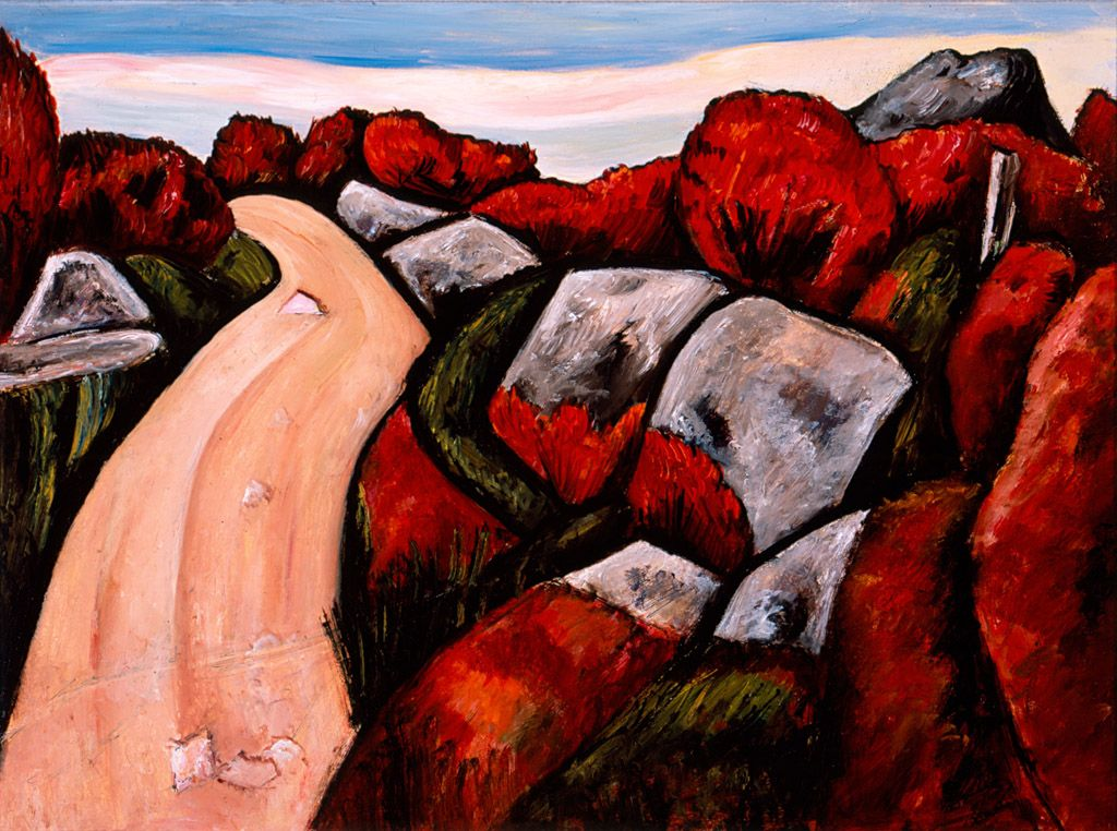 Blueberry Highway, Dogtown by Marsden Hartley, 1931, High Museum of Art - Marsden Hartley – Wikipedia (b. 4 Jan 1877)