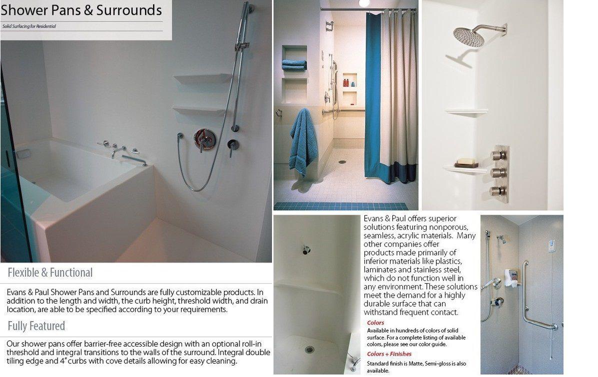 Shower Pans Surrounds Evans Paul Is The Leading Designer
