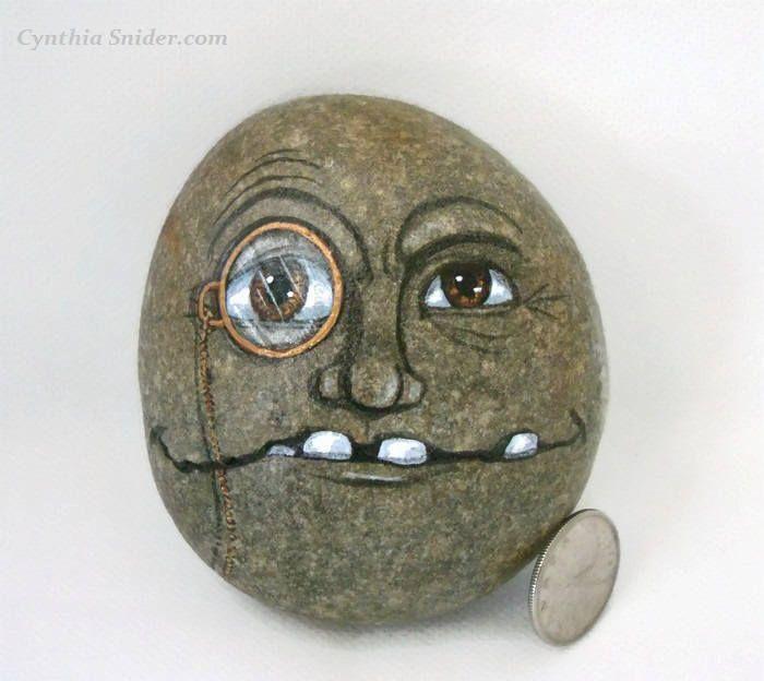 Face On Rockcreepy Facestone Face Painted Rockgarden Painted Rocks Creepy Faces Painted Rocks Kids