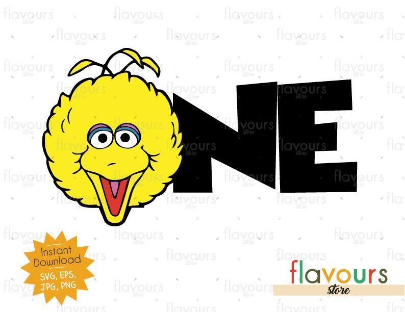 One Big Bird Sesame Street Cuttable Design Files Svg Eps Dxf Big Bird Sesame Street Sesame Street Big Bird