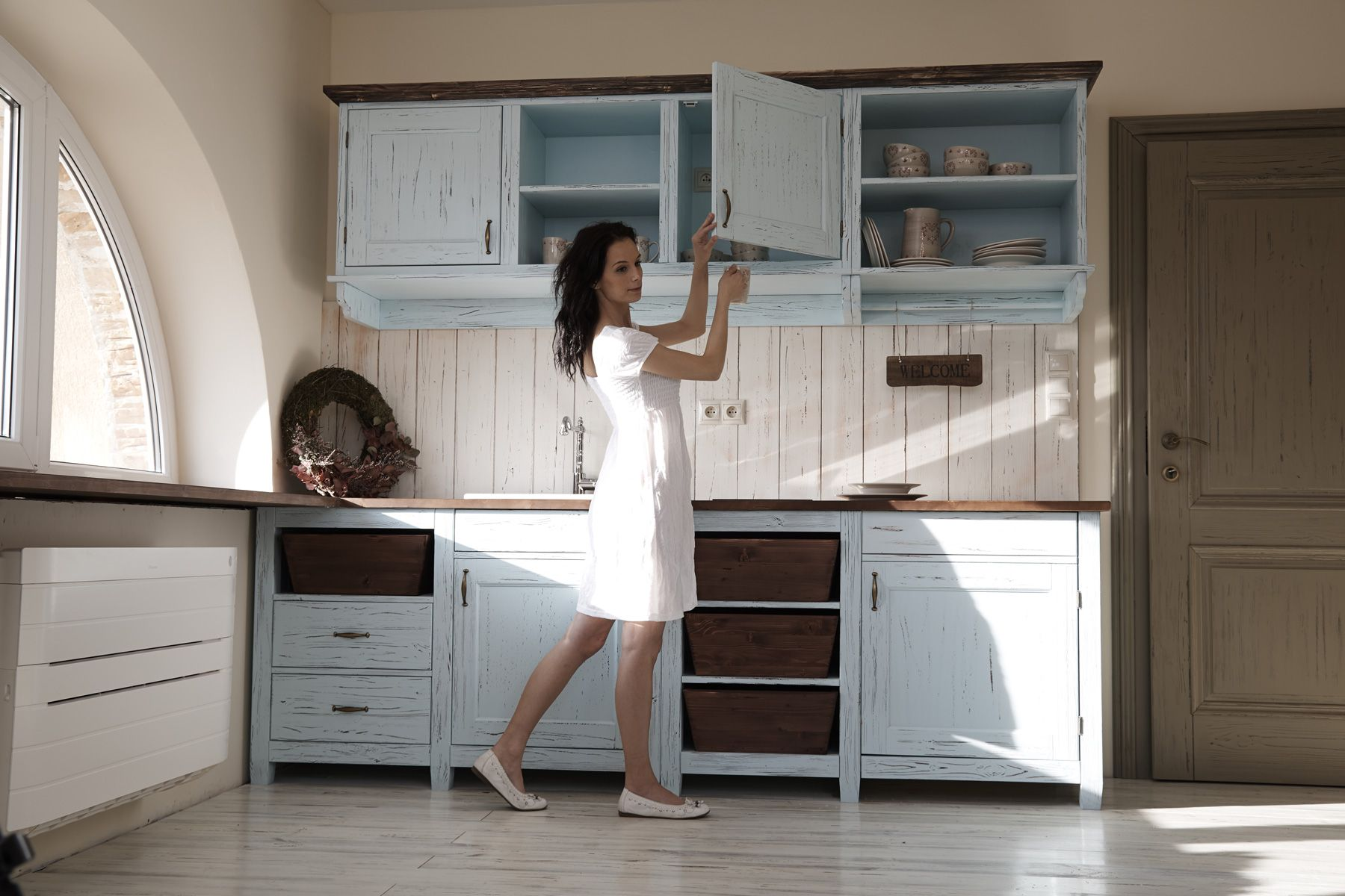 Provensálska kuchyňa na mieru biela